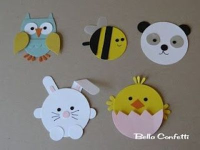 Circle Punch Animals Papercraft Juxtapost