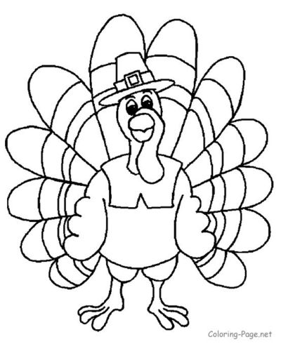Thanksgiving Coloring Page - Thanksgiving Turkey 1