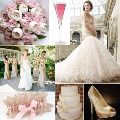 Blush Pink And Champagne Color Scheme Wedding Ideas