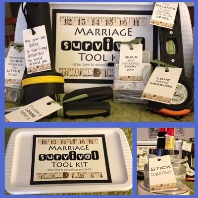 Adorable marriage survival tool kit from my cousin jen at the wedding