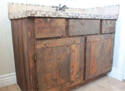 redo cabinets using cedar fencing from hd stained ebony rebuilt all