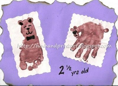 Handprint and Footprint Arts & Crafts: Handprint Bear and Footprint
