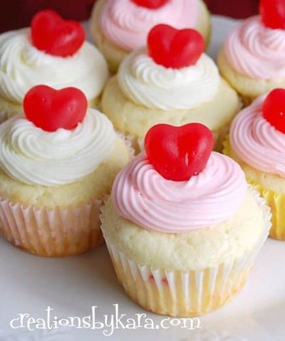 Cherry Cheesecake Valentine's Day Cupcakes