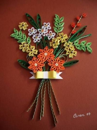 Fall Bouquet Quilled Creations Quilling Gallery Papercraft Juxtapost