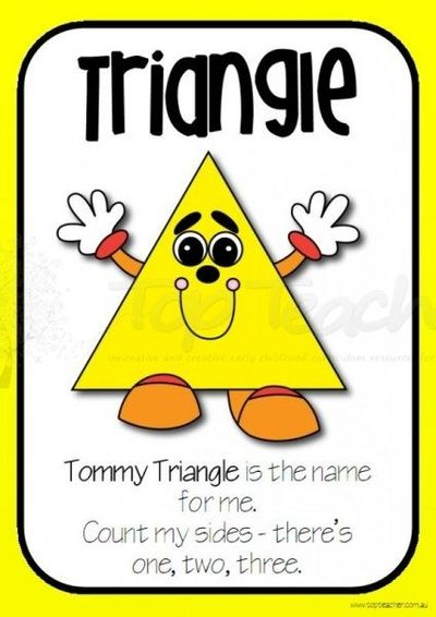 2d_shape_posters on Triangles Worksheets
