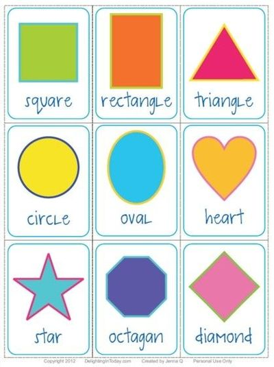 Printable Shapes Flashcards Free Shape Flashcards Download