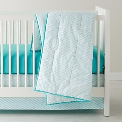 For the elephant nursery - Baby Sheets: Aqua Diamond Crib Bedding in Crib Bedding