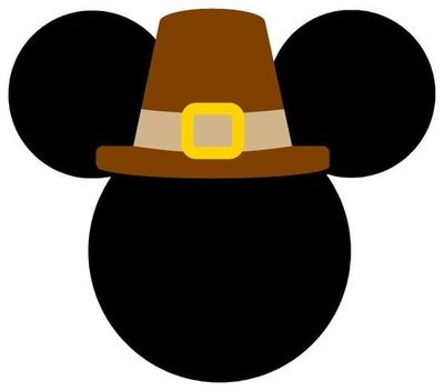 Personalized Thanksgiving Pilgrim Minnie OR Mickey Mouse DIY Iron on Decal. $7.00, via Etsy.
