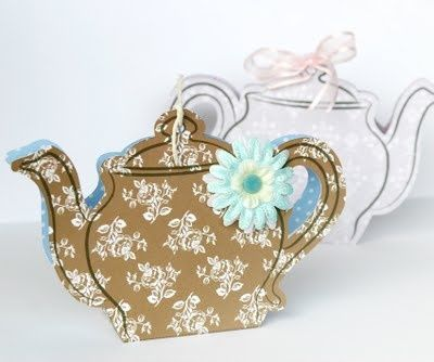 Teapot Giftbag With Template To Print MiriDde Fr Alle Teetrinker
