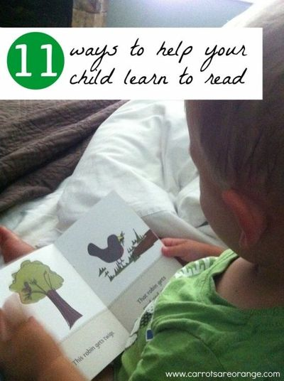 11 ways to help your child learn to read.