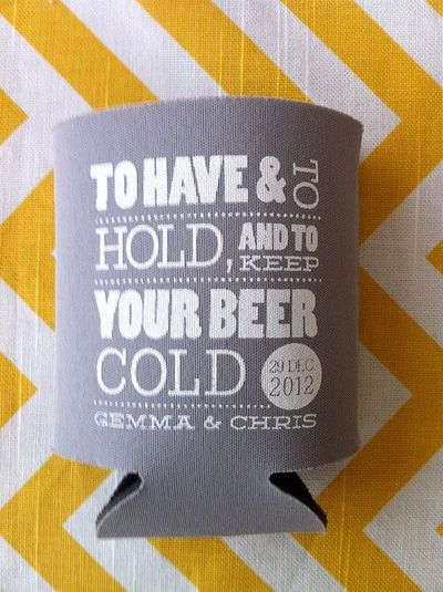 200 custom wedding koozies to have and to hold and t wedding