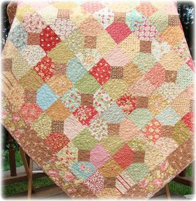 Pdf quilt pattern tangled trellis charm square quilt for Garden trellis designs quilt patterns