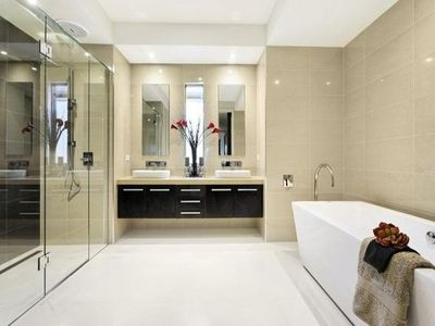 Neutral colour scheme bath ideas juxtapost Design bathroom online australia