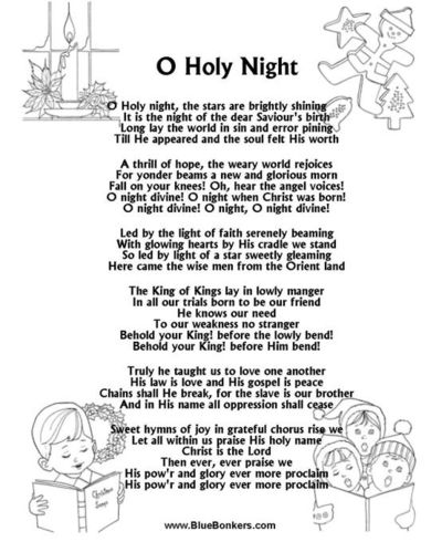 O holy night free printable christmas xmas ideas juxtapost for O holy night decorations