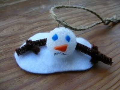 Diy melted snowman ornaments easy craft for kids to make for Christmas decorations to make for kids at home