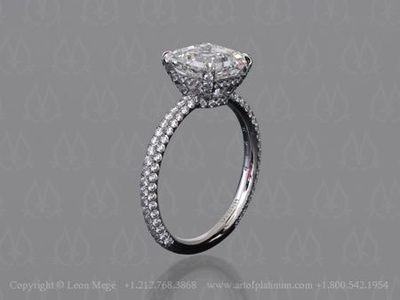 Micro Pave Solitaire Engagement Ring By Leon Mege Wedding Ideas Juxtapost