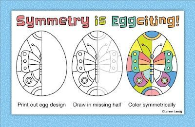 Easter eggs with line symmetry, 10 different desig... / easter ...
