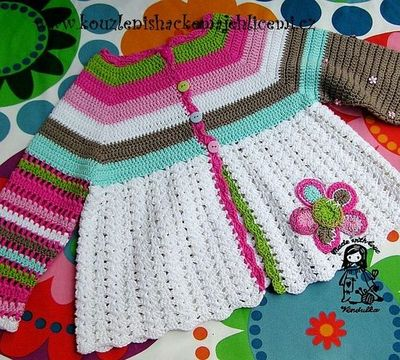 magic with hook and needles, flower cardigan pattern ...
