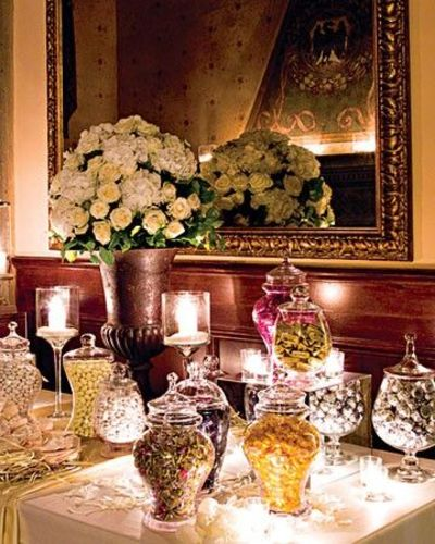 Candy bar at wedding reception wedding ideas juxtapost for Candy bar for weddings receptions