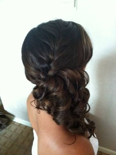curly side ponytail french braid / hair tips - Juxtapost