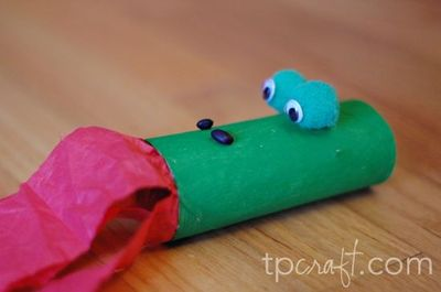 Preschool Crafts For Kids Dragon Paper Towel Roll Craft
