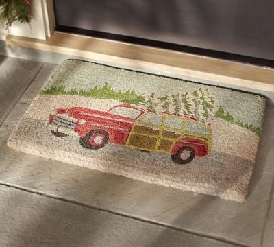 Woody Car Door Mat Pottery Barn Christmas Xmas Ideas