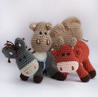Nativity set: Donkey, ox and Camel amigurumi crochet ...