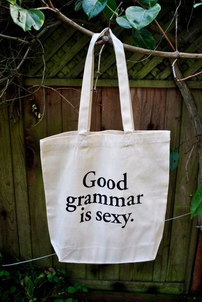 Good Grammar is Sexy Tote Bag. $16.00, via Etsy.