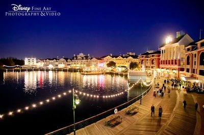 A view of Disney's BoardWalk from Atlantic Dance Hall