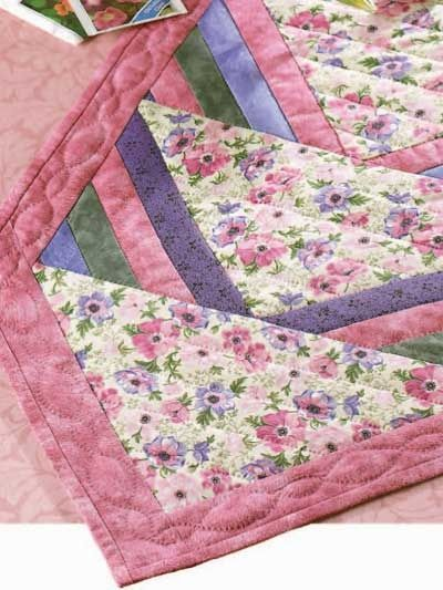Free Quilt Patterns Table Runners Download : Free Spring Flower Runner Quilt Pattern -- Download this fre... / quilting fever - Juxtapost