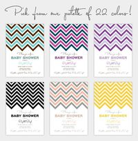 Chevron Stripe Free Printable for your Baby Shower