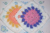 Ravelry: Free SmoothFox's Flower Button Granny Square 6x6 pattern by Donna Mason-Svara