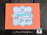 Thanksgiving printable from Uncommon Designs #printable