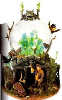 "This is a seriously awesome snowglobe. You have to love The Haunted Mansion. According to the description, the ghosts light up and rock back and forth, just like in the ride. And of course, it plays ""Grim Grinning Ghosts"", one of my favorite Disne..."