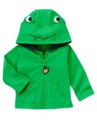Frog Zip Front Hoodie how cute! fits up to 5 lbs,