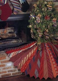 Tree skirt made from neck ties