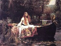 The Lady of Shalott. Love Tennyson's poem by the same name.