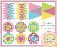 Basic Party Printables for girls - great for baby showers, birthdays, mother's day, or Friday night ;)