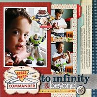 Buzz Lightyear scrapbook layout Toy story