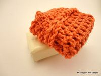 Crochet Coral Cotton Soap Bag by EucalyptusMintDesign on Etsy, $10.00