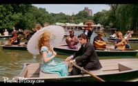 Robert and Giselle get a Calypso style serenade on a rowboat, duplicating the Kiss the Girl sequence from Disney's The Little Mermaid (1989).