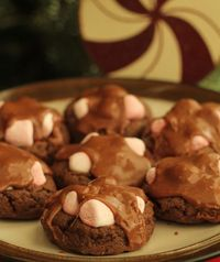Chocolate Marshmallow Cookies - We eat them while they are hot and the marshmallows are gooey! :)