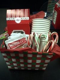 Hot chocolate gift basket