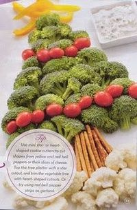 Another variation on the tree veggie tray