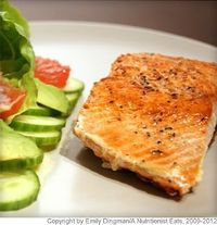 Crispy Salmon With Avocado and Grapefruit Salad