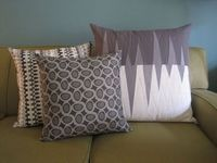 opposing triangles pillow... Love it!