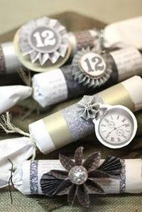 Make confetti poppers out of your empty wrapping paper tubes!