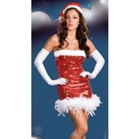 Santas Red Sexy Darling Adult Women Christmas Costume