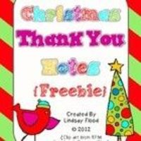 *FREE* Christmas Thank You Notes 4 Different SUPER CUTE designs :)