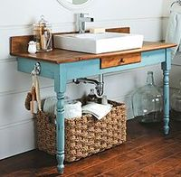 Bathroom vanity table